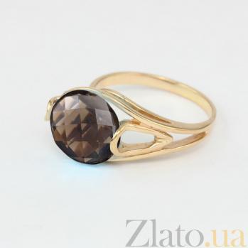 Кольцо из красного золота с раухтопазом Надира VLN--112-1302-2