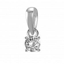 Кулон из белого золота Joy с бриллиантом 0.05ct