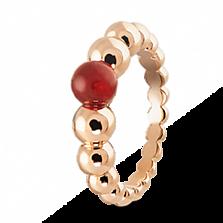 Кольцо из розового золота с сердоликом Perlée