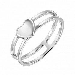 Серебряное кольцо с раздвоенной шинкой 000134035