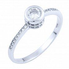 Серебряное кольцо Аврора с фианитами