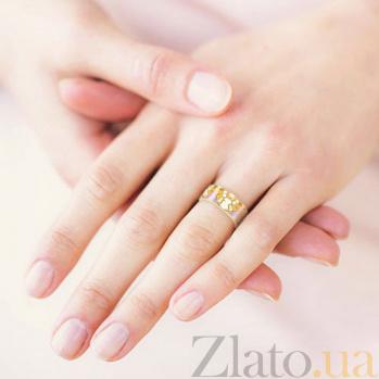 Золотое обручальное кольцо Талисман: Счастья 3094