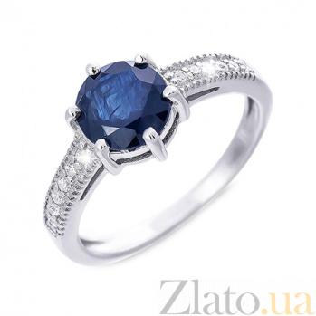 Кольцо из серебра с натуральным сапфиром Дакота AQA--R00366S