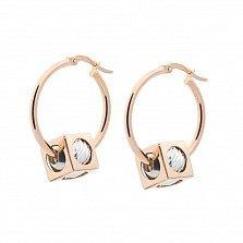 Золотые серьги-кольца Мерикруз