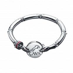 Серебряный браслет для шармов Мудрость змеи