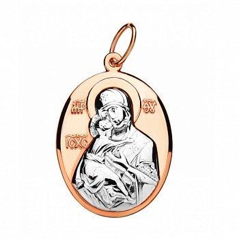 Ладанка в комбинированном цвете золота Богородица 000134803