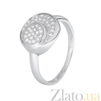 Серебряное кольцо с цирконием Дайна 000028291
