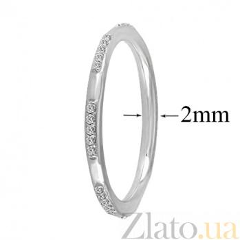 Кольцо из белого золота с фианитами Анисия 000023304