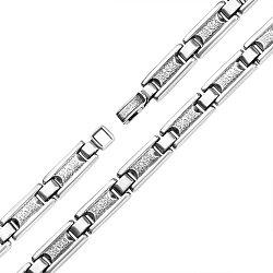 Серебряный браслет Идальго фантазийного плетения, 8мм