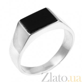 Серебряное кольцо с ониксом Мачо BGS--166к