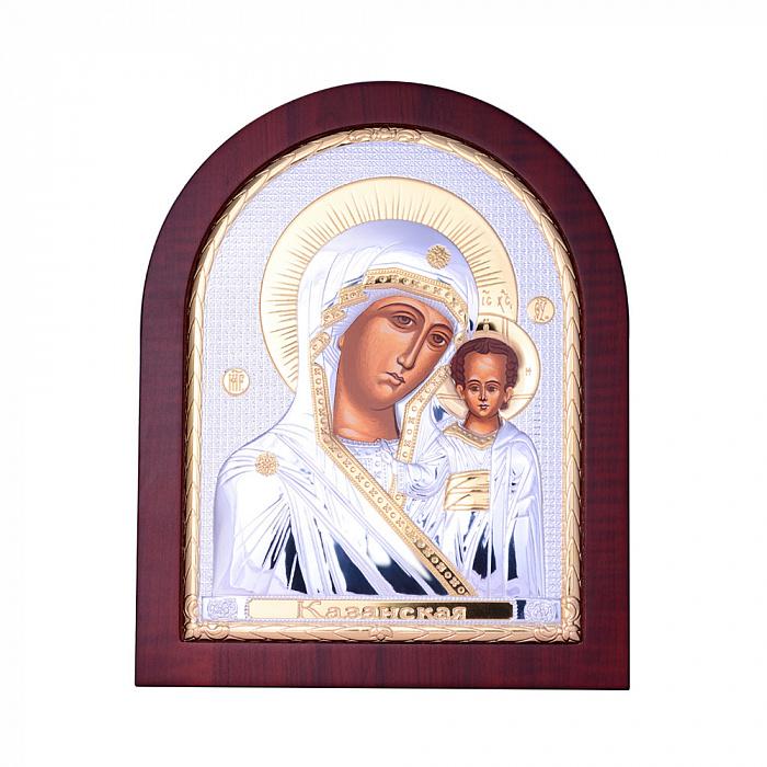 Икона Казанская Божия Матерь с серебрением и позолотой 000131707 000131707