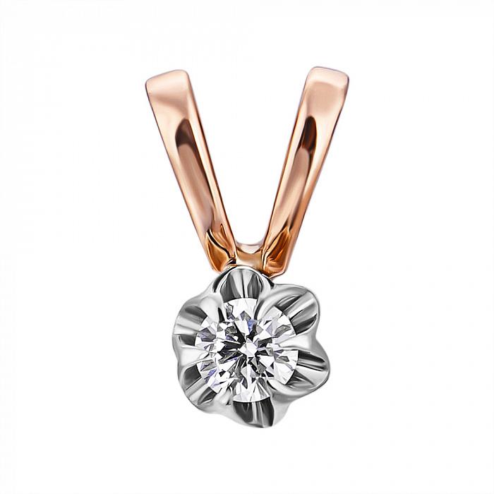Золотой кулон Джуди в комбинированном цвете с бриллиантом VLA--30060