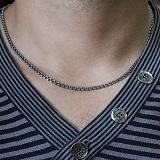Серебряная цепь с чернением Бисмарк классический, 3мм