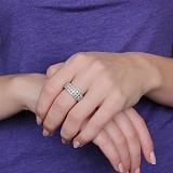 Золотое подвижное кольцо Массив с бриллиантами