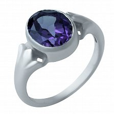 Серебряное кольцо Королева с александритом