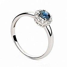 Золотое кольцо Мириния с сапфиром и бриллиантами