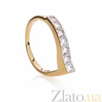 Золотое кольцо с фианитами Женева 000030612