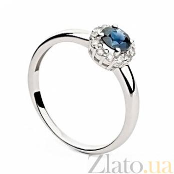 Золотое кольцо Мириния с сапфиром и бриллиантами 000045981