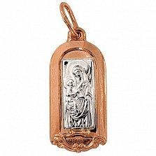 Золотая ладанка Дева Мария с младенцем