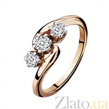 Золотое кольцо с бриллиантами Галатея KBL--К1539/крас/брил