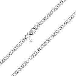 Серебряная цепочка в плетении бисмарк 3 мм 000122395