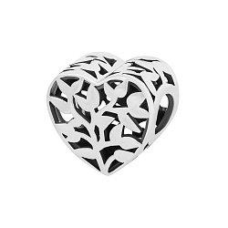 Серебряный подвес-шарм Весеннее сердце