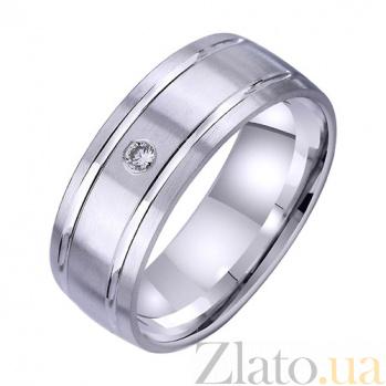 Золотое обручальное кольцо Пора любви с фианитом TRF--4221723