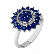 Золотое кольцо с сапфирами и бриллиантами Айседора