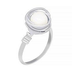 Серебряное кольцо Эрлин с жемчугом 000030974