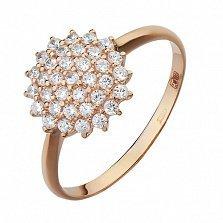 Золотое кольцо Звезда с фианитами