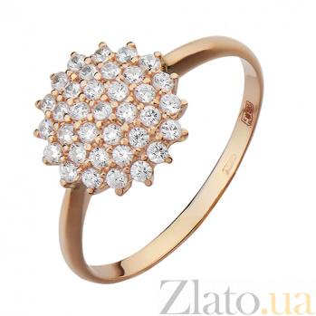 Золотое кольцо Звезда с фианитами PTL--1к730/01