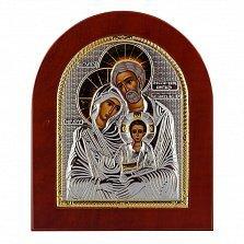 Икона Святое Семейство на деревянной основе, 15,5х19см