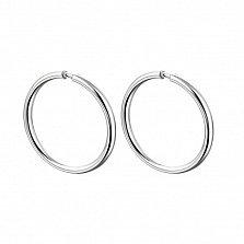 Серебряные серьги-кольца Фасли в минималистичном стиле