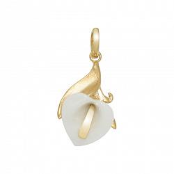 Золотой подвес с керамикой Лунет 000016160