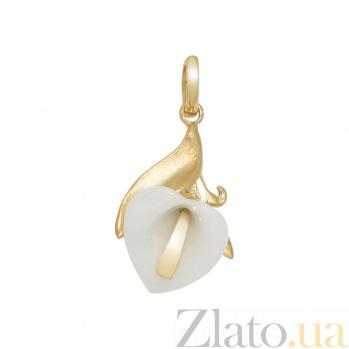 Золотой подвес с керамикой Лунет 2П764-0023
