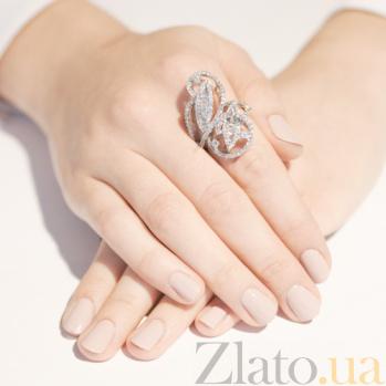 Серебряное кольцо с фианитами Листья 10000156