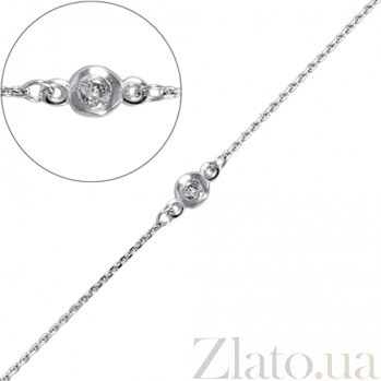 Колье в белом золоте с цирконием Изабель LEL--12644