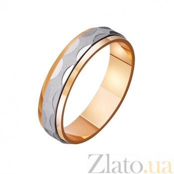 Обручальное кольцо из комбинированного золота Infinity TRF--421145