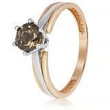 Золотое кольцо Делия с раухтопазом