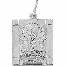 Серебряная ладанка Божья Матерь Казанская