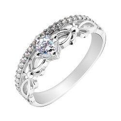 Серебряное кольцо с фианитами 000130157