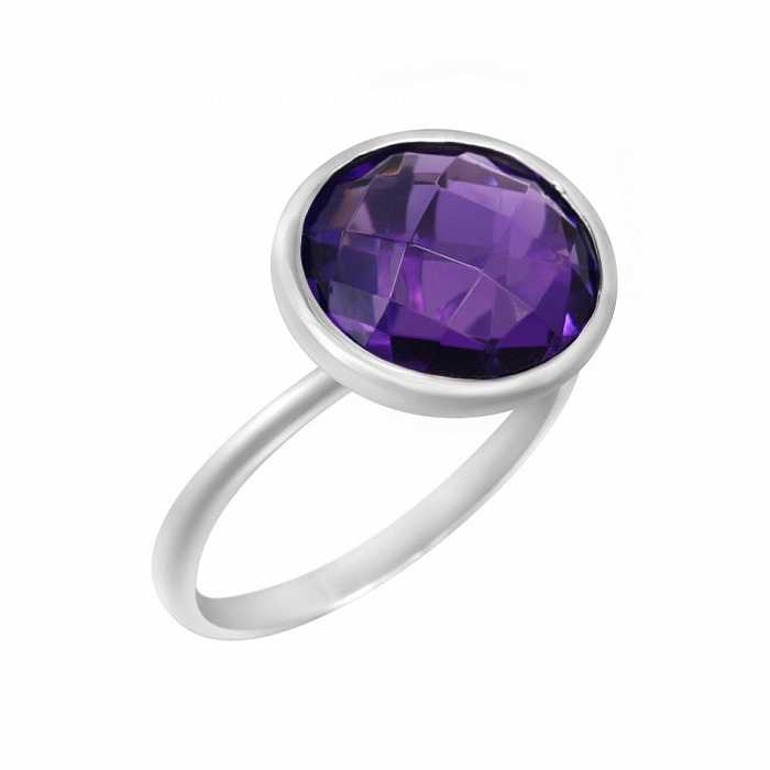 Серебряное кольцо Даяна с аметистом 000081519