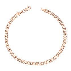 Золотой браслет Арабка в свободном плетении арабский бисмарк