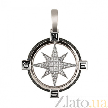 Подвеска Путеводная Звезда из белого золота VLT--Т3312