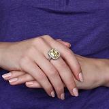 Золотое кольцо Солнечный рай с цитрином и бриллиантами