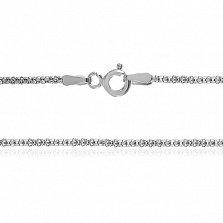Серебряная цепь Каракум с родированием