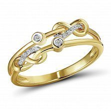 Кольцо из желтого золота Галатея с бриллиантами