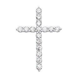 Декоративный крестик из белого золота с бриллиантами 000136818