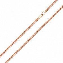 Золотая цепочка Венеция в красном цвете, 1мм