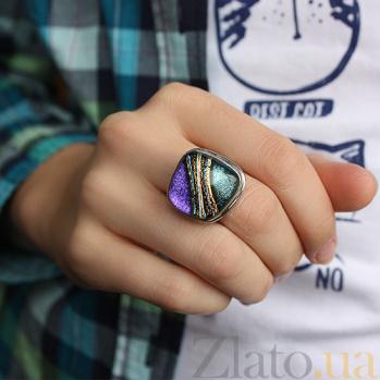 Серебряное кольцо с имитацией опала Живопись 000007030